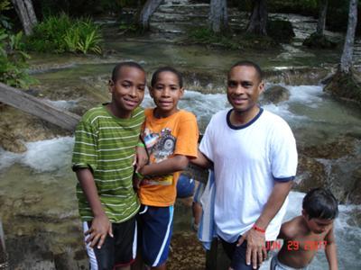 Me & my boys - Dunns River 2007